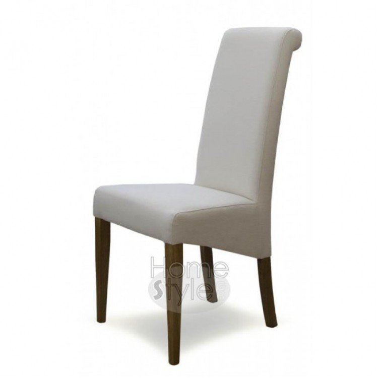 Homestyle Opus Oak Furniture Italia Ivory Fabric Chair (Pair)