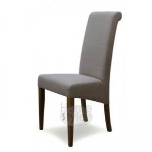 Opus Oak Furniture Italia Beige Fabric Chair - Pair