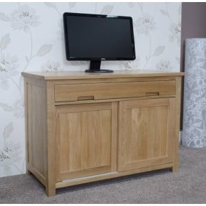 Opus Solid Oak Furniture Hideaway Computer Desk
