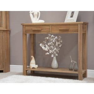 Opus Solid Oak Furniture Console Table