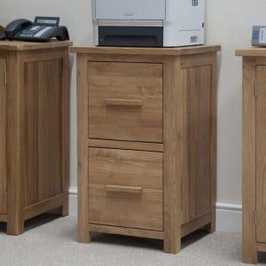 Opus Solid Oak Furniture 2 Drawer Filing Cabinet