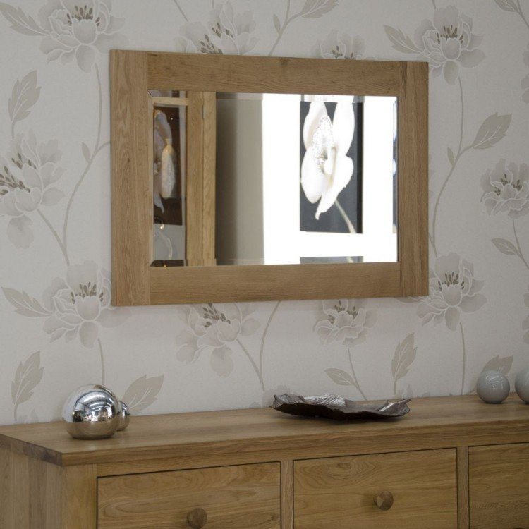 Opus Solid Oak Furniture 900 x 600mm Wall Mirror