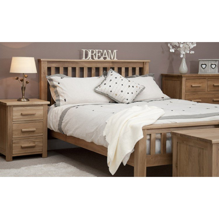 Opus Solid Oak Furniture 4ft6 Double Bed