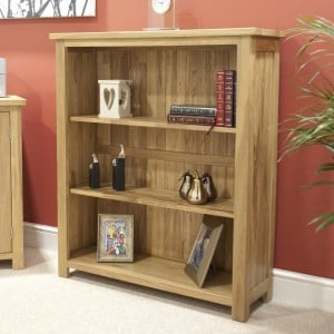 Opus Solid Oak Furniture Small Bookcase