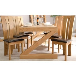 Z Solid Oak Furniture 6ft x 3ft Dining Table - PRE-ORDER