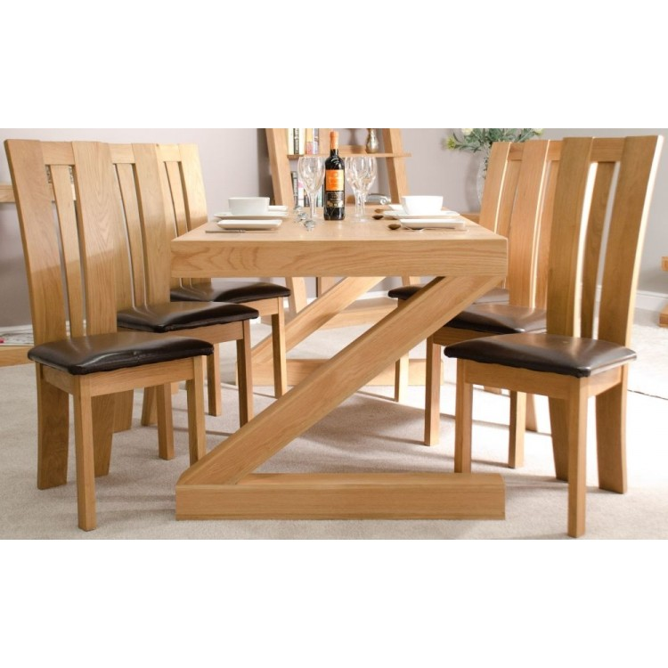 Z Solid Oak Furniture 6ft x 3ft Dining Table