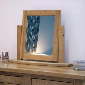 Lyon Bedroom Furniture Light Oak Vanity Dressing Table Mirror