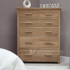 Opus Solid Oak Furniture Jumbo Chest of Drawers