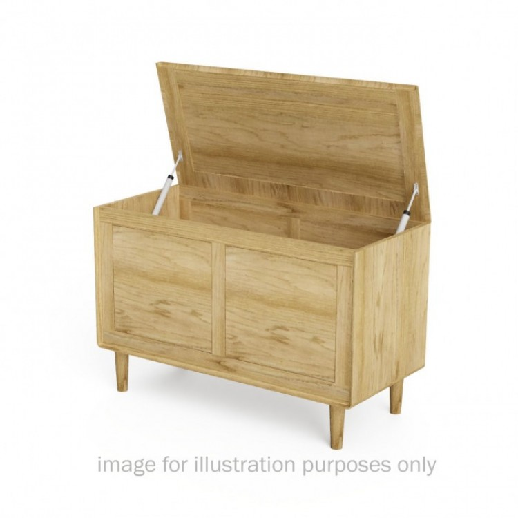 Scandic Solid Oak Furniture Blanket Box