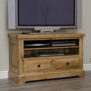 Deluxe Solid Oak Furniture TV Cabinet