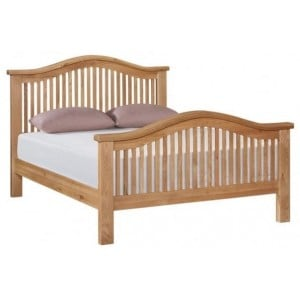Canterbury Wax Oak Furniture Double Bed - 4ft 6""