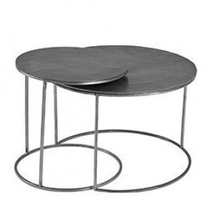 Ferro Circular Silver Nest of Tables