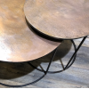 Ferro Leaf Copper Nest of Tables