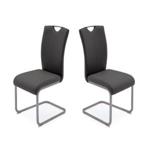 Vida Living Lazzaro Furniture Grey Dining Chair Pair