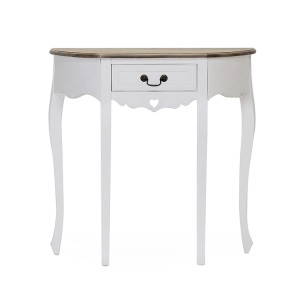 Vida Living Maeve White Painted Furniture Half Moon Console Table