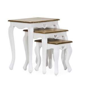 Vida Living Maeve White Painted Furniture Nest Of 3 Tables
