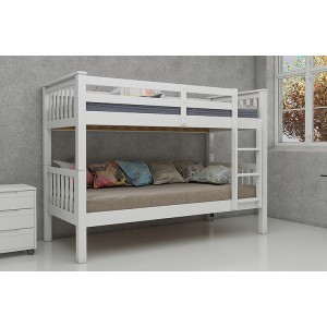 Vida Living Magnus White Single Bunk Bed