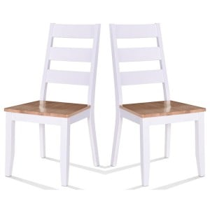 Vida Living Rona Grey Painted Furniture Dining Chair Pair