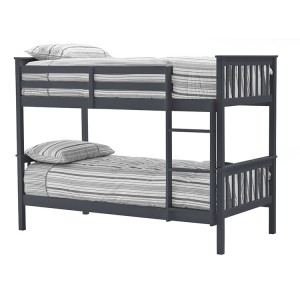 Vida Living Salix Grey Painted Furniture Single 3ft Bunk Bed