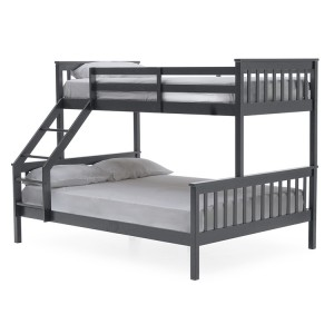 Vida Living Salix Grey Painted Furniture Single 3ft and Double 4ft6 Bunk Bed