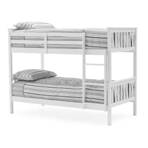 Vida Living Salix Painted White 3ft Single Bunk Bed