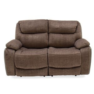 Vida Living Furniture Santiago Brown Fabric 2 Seater Recliner Sofa