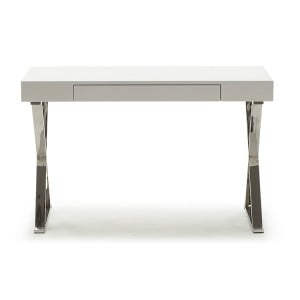 Vida Living Sienna White High Gloss Console Table/Desk
