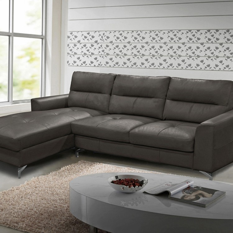 Vida Living Tanaro Grey Leathaire Upholstered Furniture