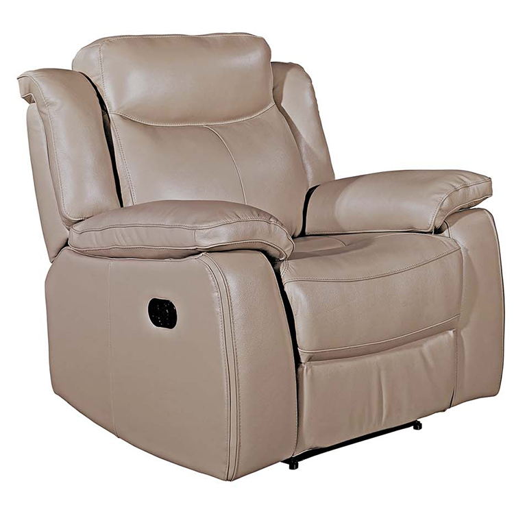 Vida Living Furniture Torretta Taupe Leather Recliner Armchair