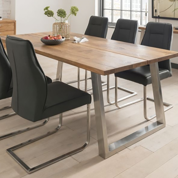 Vida Living Trier European Oak & Stainless Steel