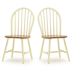 Vida Living Windsor Buttermilk Spindle Dining Chair Pair