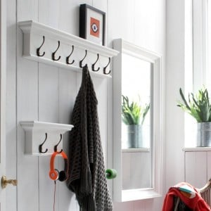 Halifax Painted Furniture 2 Hook Coat Rack
