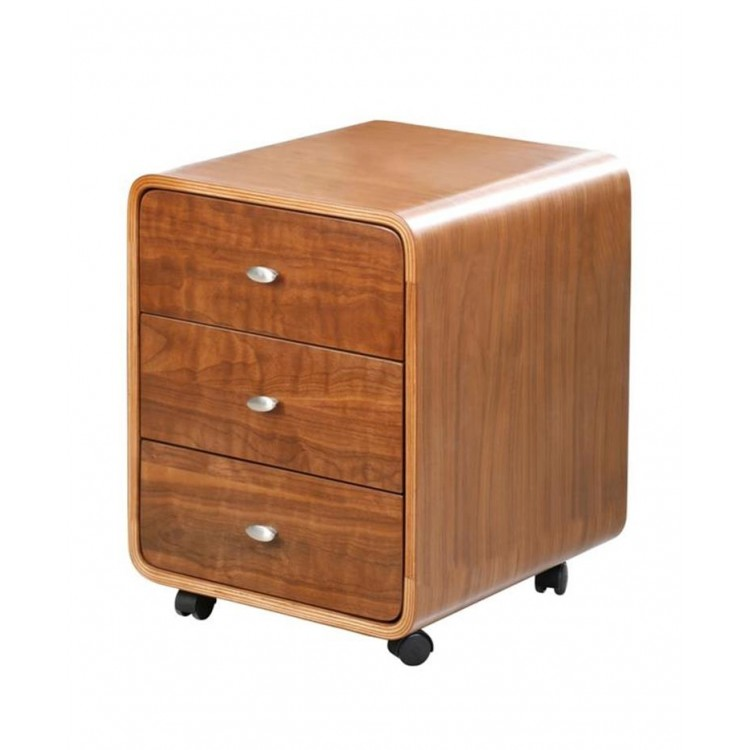 Jual Helsinki Walnut Furniture 3 Drawer Pedestal