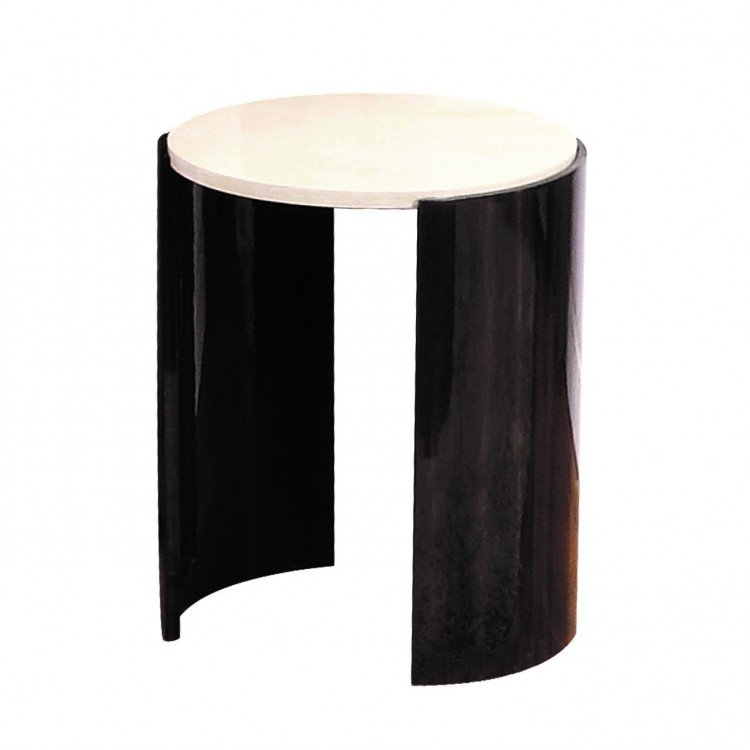 Jual Milan High Gloss Furniture Walnut and Cream Large Lamp Table