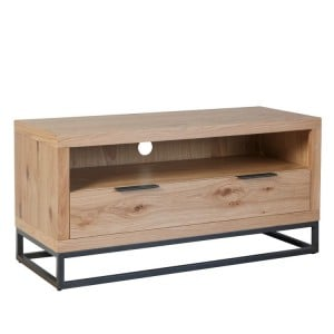 Elliptus Oak Furniture Small TV Unit with Drawer