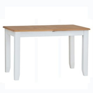 Galaxy White Painted Furniture 160cm Butterfly Extending Table