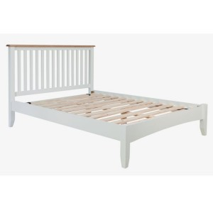 Galaxy White Painted Furniture 3ft Low End Single Bed