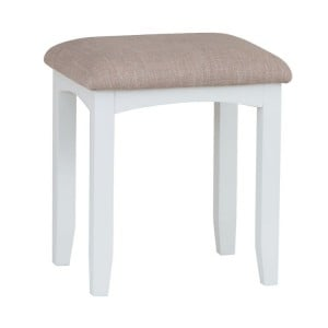 Galaxy White Painted Furniture Dressing Table Stool