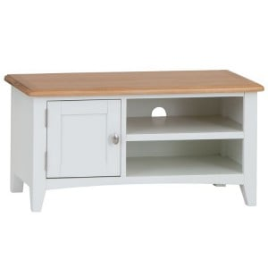 Galaxy White Painted Furniture Small TV Unit