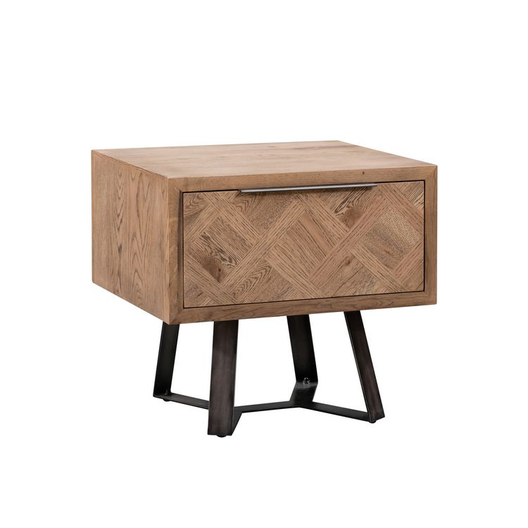 Imperial Aged Oak Furniture Lamp Table with Drawer