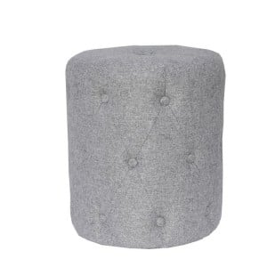 Livorno Collection Light Grey Fabric Footstool