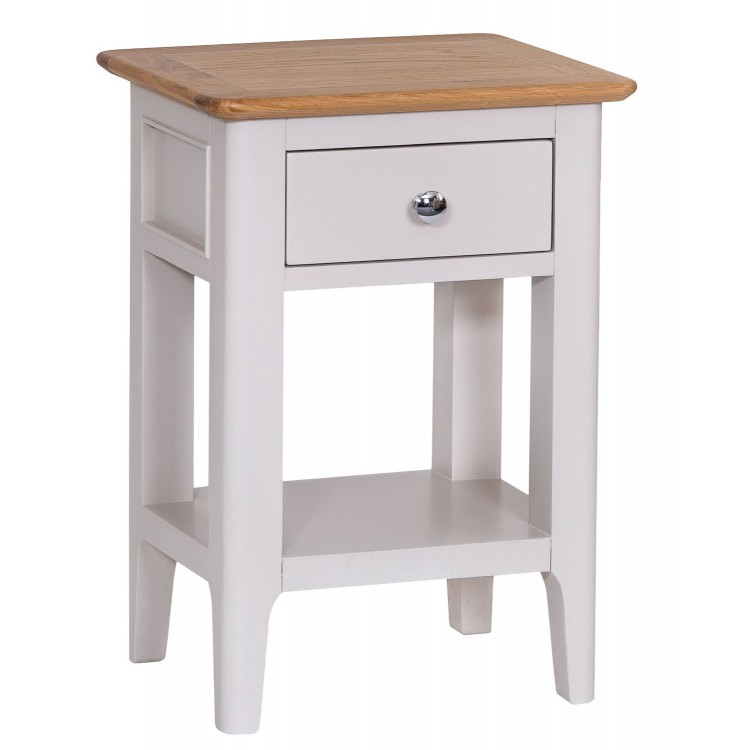 Manor House Stone Grey Painted Furniture Side Table