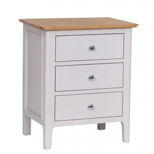 Manor House Stone Grey Painted Furniture Extra Large Bedside Cabinet