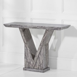 Mark Harris Minsk Furniture Grey Marble Console Table