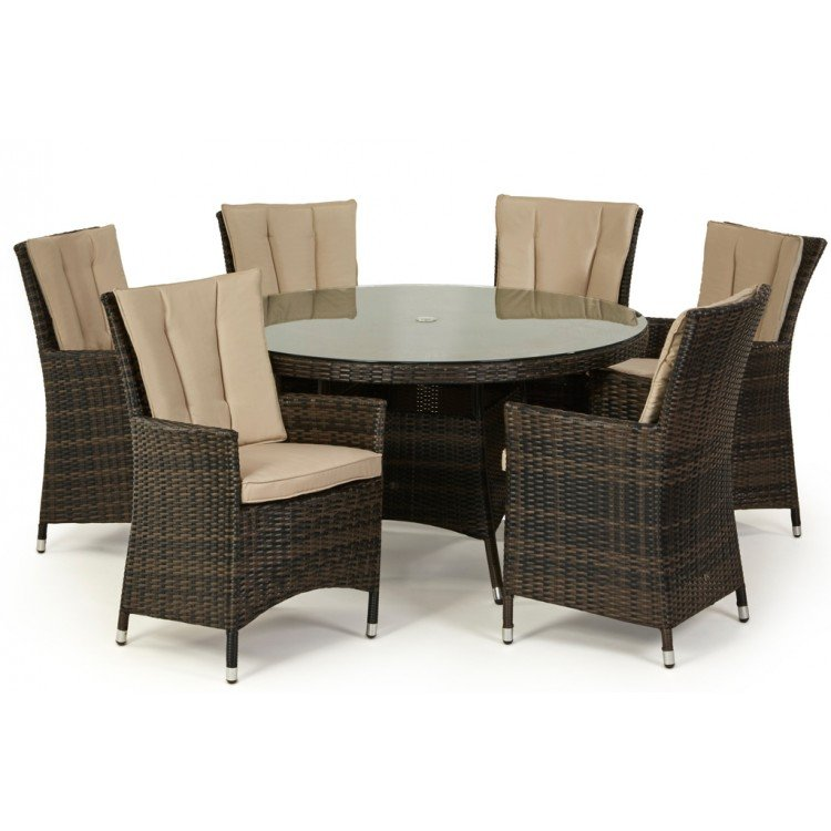 Rattan 6 Seater Dining Sets