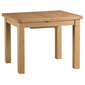 Colchester Rustic Oak Furniture 1m Butterfly Extending Table