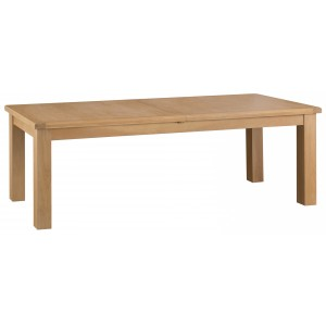 Colchester Rustic Oak Furniture 2.4m Butterfly Extending Table