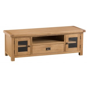 Colchester Rustic Oak Furniture Large TV Unit