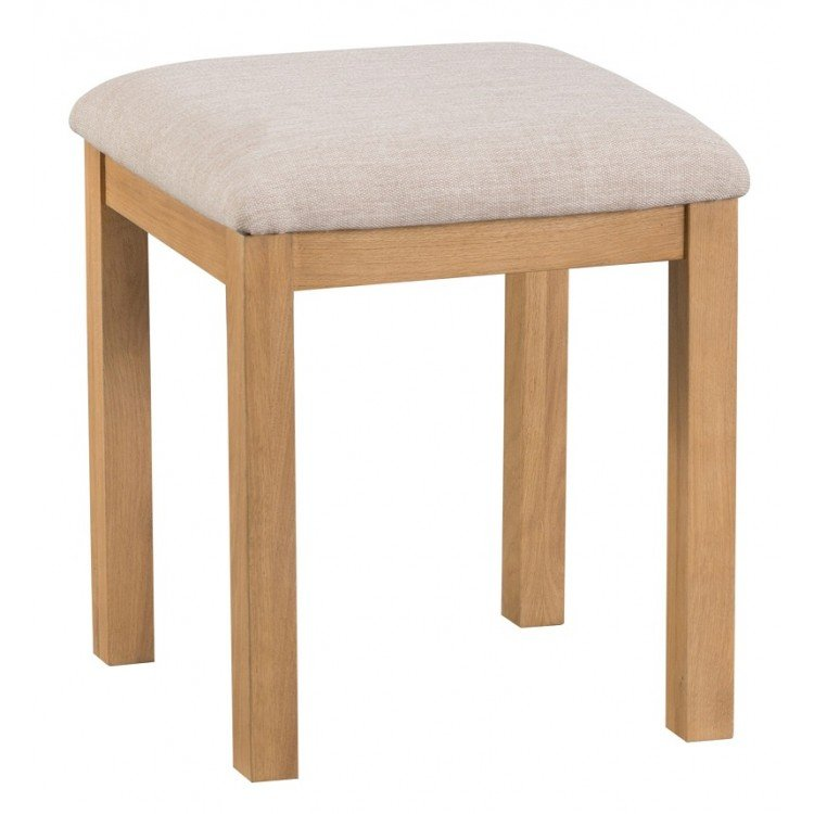 Colchester Rustic Oak Furniture Dressing Table Stool