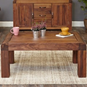 Shiro Walnut Furniture Medium Open Coffee Table